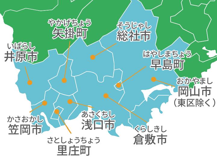 施工エリアの地図